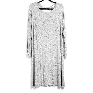 LOFT   Grey Flecked Cutout Back Knit Sweater Dress